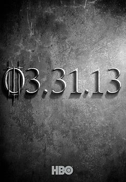 HBO's acclaimed drama Game of Thrones will return on March 31, 2013.[Image from  http://upload.wikimedia.org]